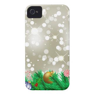 Brillo de los ornamentos del navidad Case-Mate iPhone 4 cárcasas