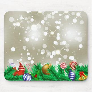 Brillo de los ornamentos del navidad alfombrillas de ratones