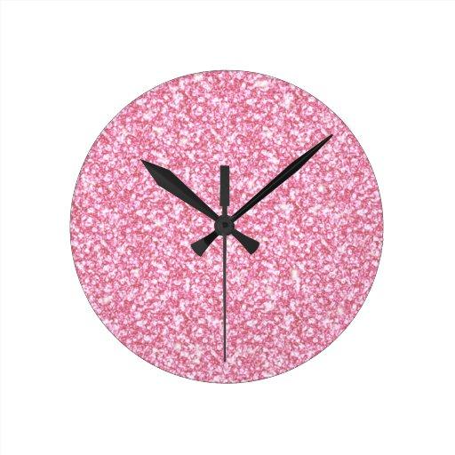 Brillo de los rosas bebés impreso reloj