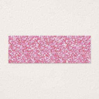 Brillo de los rosas bebés impreso tarjeta de visita pequeña