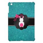 Brillo de lujo de la turquesa del conejito iPad mini fundas