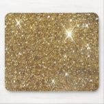 Brillo de lujo del oro - imagen impresa alfombrilla de raton