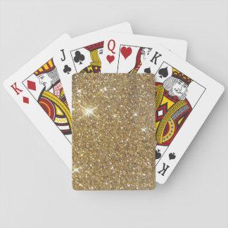 Brillo de lujo del oro - imagen impresa cartas de juego