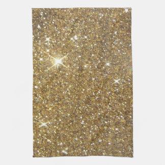 Brillo de lujo del oro - imagen impresa toallas