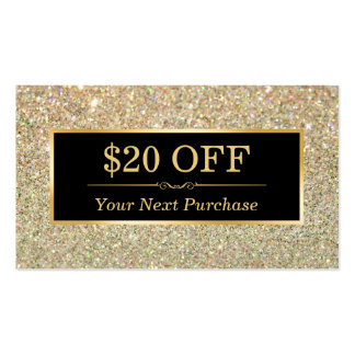 Brillo de moda del oro del salón de belleza de la tarjetas de visita