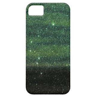 Brillo de moda verde y negro de la pendiente iPhone 5 fundas