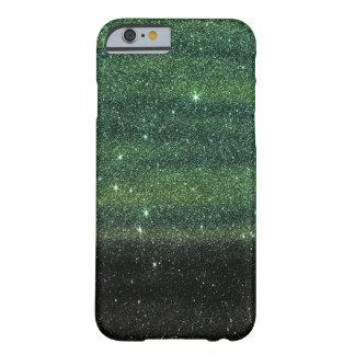 Brillo de moda verde y negro de la pendiente funda de iPhone 6 barely there