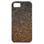 Brillo de Ombre del oro falso iPhone 5 Case-Mate Carcasas