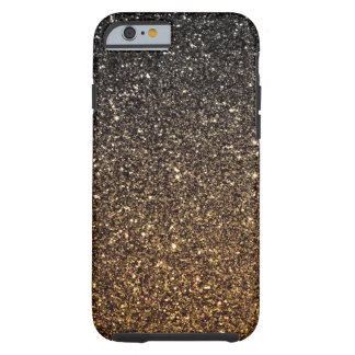 Brillo de Ombre del oro falso Funda De iPhone 6 Tough