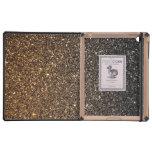 Brillo de Ombre del oro falso iPad Carcasa