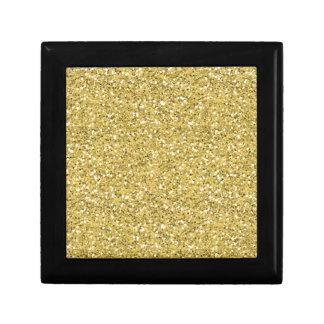 Brillo de oro del reflejo caja de regalo