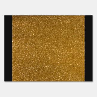 Brillo de oro letrero