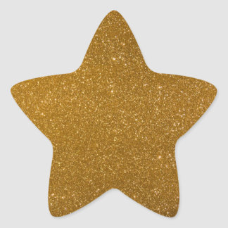 Brillo de oro colcomanias forma de estrellaes personalizadas