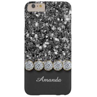 Brillo de plata atractivo y caja brillante de los funda barely there iPhone 6 plus