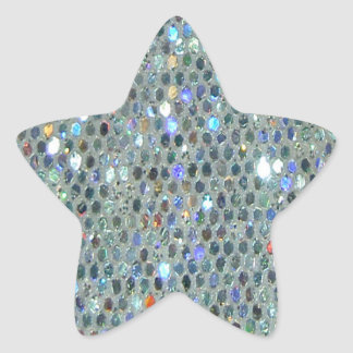 Brillo de plata brillante glamoroso Bling Pegatina En Forma De Estrella