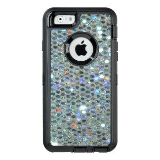 Brillo de plata brillante glamoroso de Bling Funda OtterBox Defender Para iPhone 6