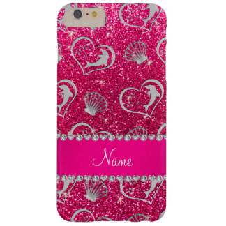 Brillo de plata conocido del rosa color de rosa de funda de iPhone 6 plus barely there