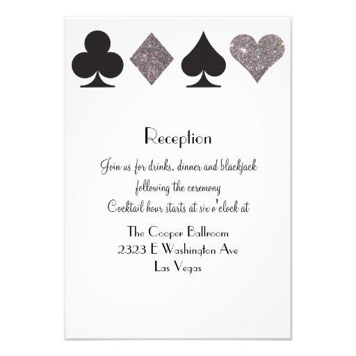 Brillo de plata de la recepción de Vegas del Comunicados Personalizados