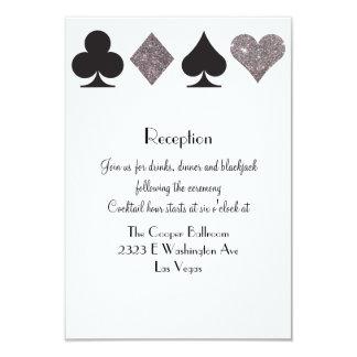 """Brillo de plata de la recepción de Vegas del Invitación 3.5"""" X 5"""""""