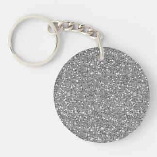 Brillo de plata del reflejo llaveros