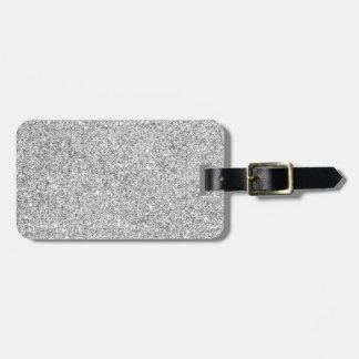 Brillo de plata elegante etiquetas para maletas