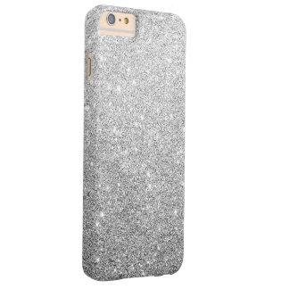 Brillo de plata elegante funda barely there iPhone 6 plus