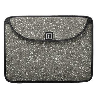 Brillo de plata elegante funda macbook pro