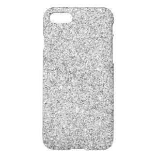 Brillo de plata elegante funda para iPhone 7