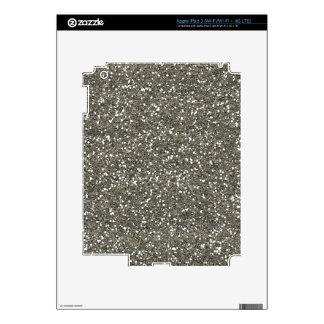 Brillo de plata elegante pegatinas skins para iPad 3