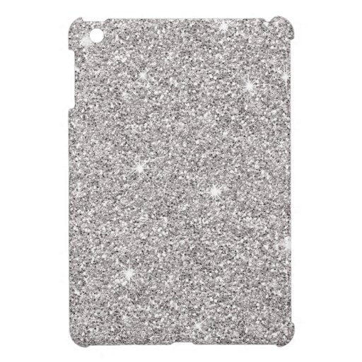 Brillo de plata glamoroso iPad mini cárcasa