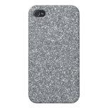 Brillo de plata iPhone 4/4S carcasa
