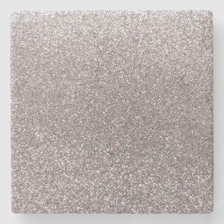 Brillo de plata posavasos de piedra