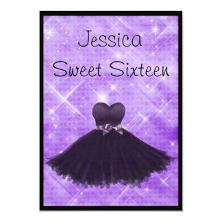 Brillo de plata púrpura 3 del vestido negro del comunicado