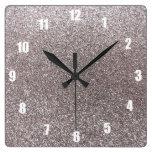 Brillo de plata reloj