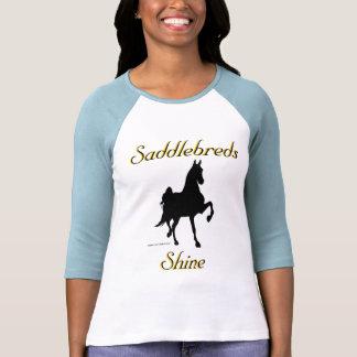 Brillo de Saddlebreds Camisetas