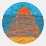 Brillo de Sun Etiquetas Redondas