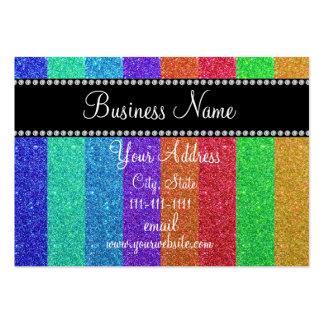 Brillo del arco iris bling tarjetas de visita