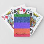 Brillo del arco iris cartas de juego
