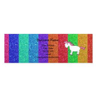 Brillo del arco iris del caballo tarjetas de negocios