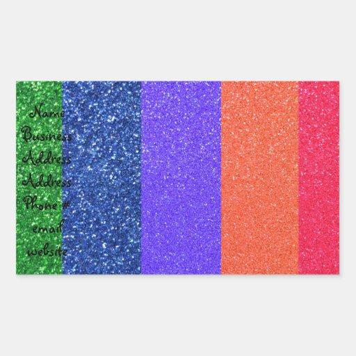 Brillo del arco iris rectangular altavoz
