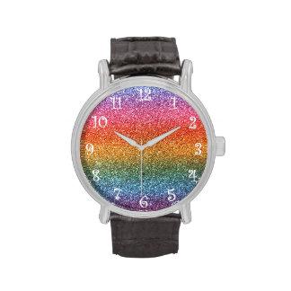 Brillo del arco iris reloj