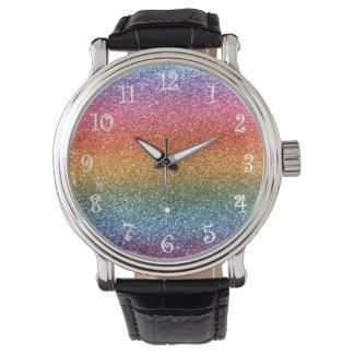 Brillo del arco iris relojes