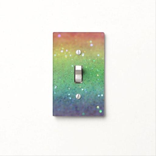 Brillo del arco iris tapa para interruptor