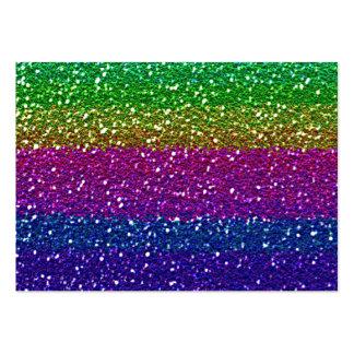 Brillo del arco iris tarjetas de visita