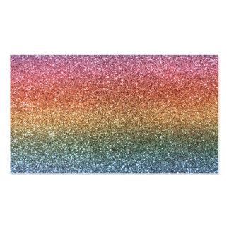 Brillo del arco iris plantillas de tarjetas personales