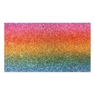 Brillo del arco iris tarjeta de negocio