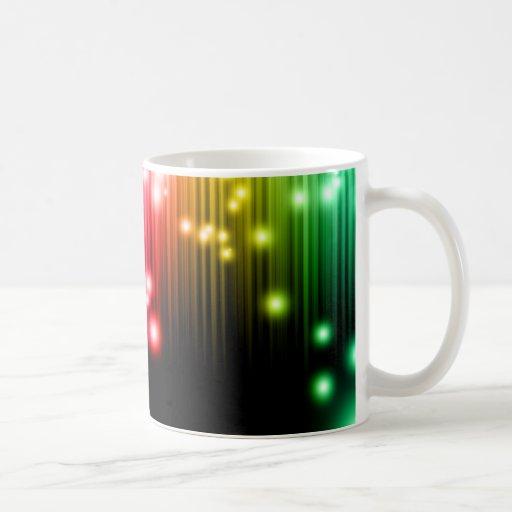 Brillo del arco iris taza básica blanca