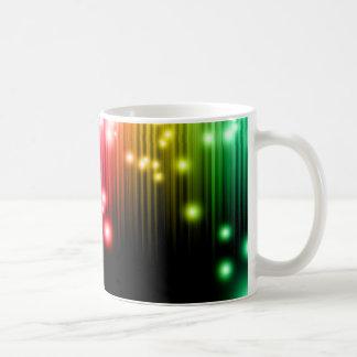 Brillo del arco iris taza de café