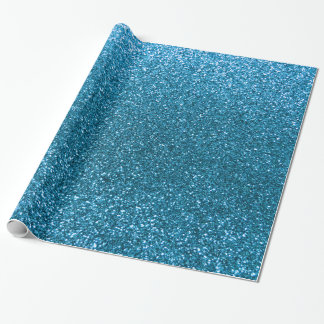 Brillo del azul de cielo papel de regalo