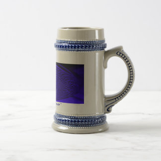 Brillo del azul real jarra de cerveza